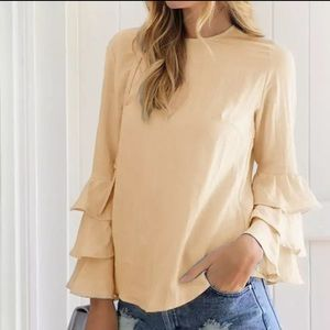- Fall Trend Tiered arm blouse top